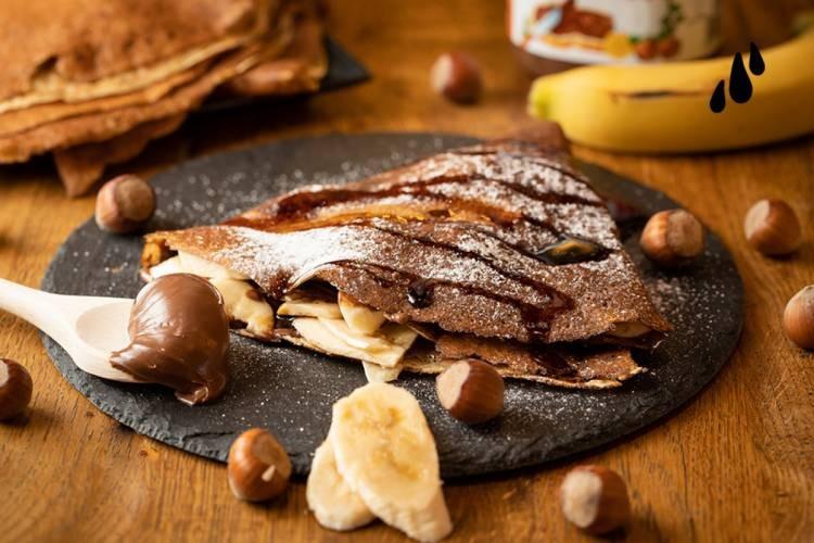 Clătită cu Nutella și banane